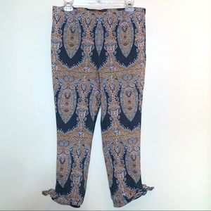 Free People Ornate High Waisted Cropped Pants 12